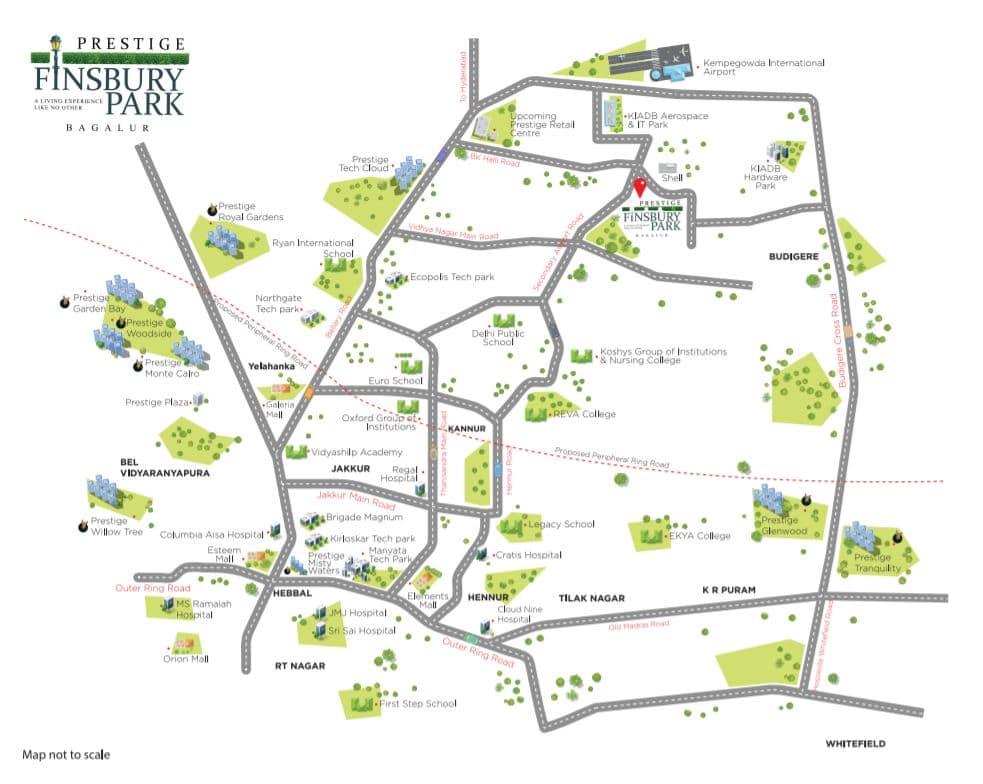 prestige finsbury park location map